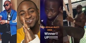 Davido Cries After He Was Unveiled As The MTV Best African Act 2017, Dances One Corner (Video)