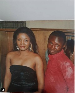 Comedian Funnybone And Omotola Jalade-Ekeinde's Throwback Photo