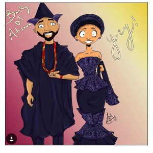 Funny Drawing Of Banky W And Adesua Etomi (Photo)