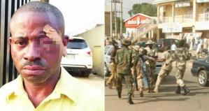 Soldiers Chain Man To Motorcycle In Lagos, Drag Him On Street