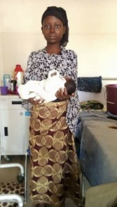 11-year-old girl impregnated by 'brother-in-law' gives birth (Photos)