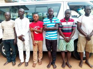 SARS Operatives recover bus stolen at gunpoint, arrest suspects (Photos)