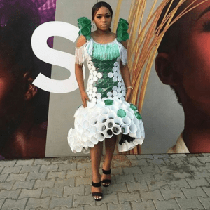 Check out this dress made with plastic cups (Photo)