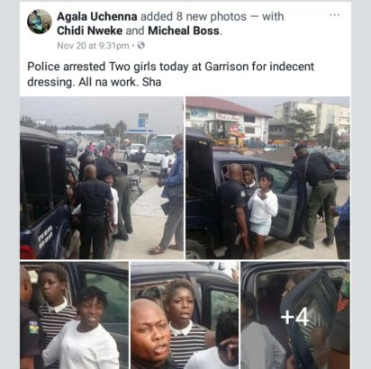 Police Arrest 2 Ladies Over Indecent Dressing In Enugu (Photos)