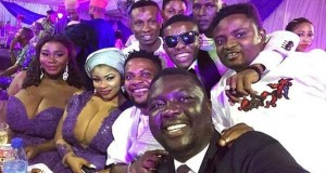 Comedian Seyilaw & Mc Shakara Pictured With Busty Ladies At Oritsefemi's Wedding