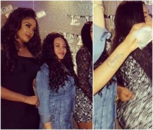 Flavour's Babymama, Sandra Okagbue Spotted At A Party With Tattoos Of His Name