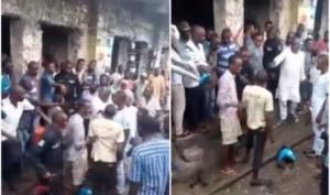 Drama As Man Returns Manhood He Reportedly Stole With A Handshake In Port-Harcourt (Video)