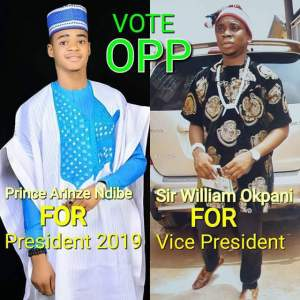 Very Young Nigerian Man Declares His Intention To Contest In 2019 Presidential Election (Photos)