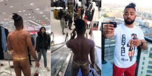 Man goes shopping wearing only pants! (Photos/Video)