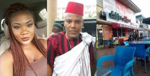 Igbo Lady claims she saw Nnamdi Kanu in Ghana buying Pizza (Photos)