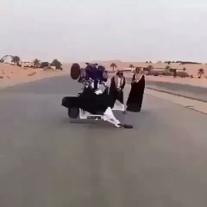 Check out this bike stunt done in Saudi Arabia. (Video)