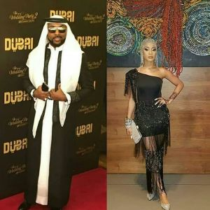 ", Banky W & Adesua Etomi In Arabian Outfit At ""The Wedding Party 2"" Premiere (Photo), Effiezy - Top Nigerian News & Entertainment Website"