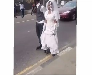 See this couple roller skating to their wedding venue in Lagos (Photos & Video)