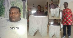 Check out this unbelievable weight loss journey of a Nigerian man (Photos)