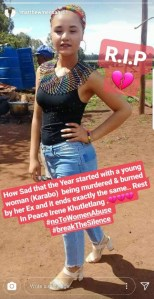 Lady burnt to death by her boyfriend on boxing day because she wanted to end their relationship (Photos)