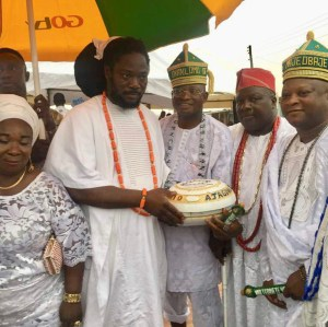 Veteran Artist, Daddy Showkey Conferred With A Chieftaincy Title As 'The Ajaguna Of Yakoyo Land' (Photos & Video)