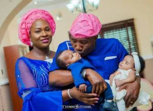 Nigerian Couple welcome a set of twins after 16 years of marriage (Photos)
