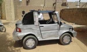 Nigerian Man Uses Locally Sourced Materials To Build A Car (Photos)