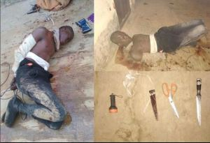 ABU Students Tie And Beat Up Thief Who Was Trying To Steal From Them (Photos)