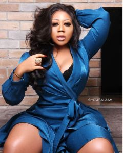 Fans Slam Actress, Moyo Lawal For Showing Her Cleavage, She Replies (Photo)