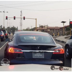 All Electric Car, Tesla Model S Spotted In Abuja, Nigeria (Photos)
