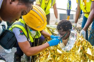 LASEMA Rescues Woman Trapped In Mud Under Third Mainland Bridge (Photos)