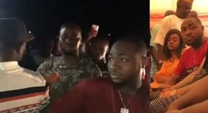 Davido & His Girlfriend, Chioma Visits His Village and Gets Love From His Fans (Video)