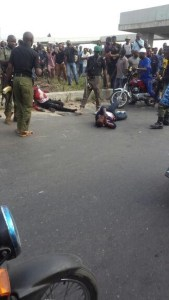 Two Armed Robbers killed in Festac, Lagos (Photos)