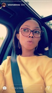 Media Personality, Toke Makinwa Steps Out Without Makeup (photos)