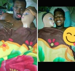 Nigeria guy uses mannequin as his sex doll (Photo)… lol