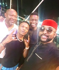 Wizkid, Banky W, Tunde Demuren And Paul O Okoye Pictured Together