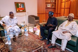 Tinubu, Bisi Akande In Closed-Door Meeting With Buhari (Photos)