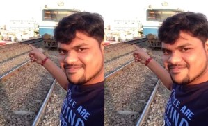 See how this man's head was smashed by a train when he was taking a selfie (Video)
