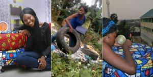 See The Nigerian Lady Who Creates Beautiful Brand New Furniture With Condemned Tyres (Photos)