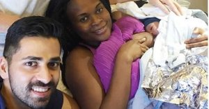 41-year old Nigerian banker gives birth inside plane (Photos)