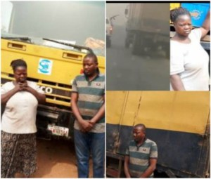 Ogun State Police Arrest Female Robber And Her Male Companion For Hijacking Truck Loaded With N2.7m Worth Of Beer