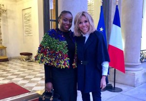 Chimamanda Ngozi Adichie Meets France First Lady, Brigitte Macron In Paris (Photos)