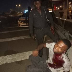 Police rescue young man who was stabbed and robbed in Lagos (Photos)