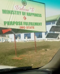 Check out the poster of Ministry of Happiness in Imo State (Photo)