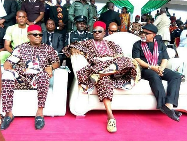 Governor Obiano and his swag pictured with Ngige (Photo)