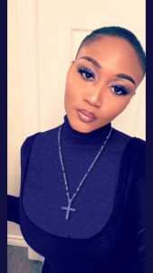 See How Twitter Users Covered A Lady Showing Off Her Cleavage (Photos)