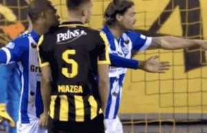 See as a Chelsea player grabbed another player's manhood during a match (Photos & Video)