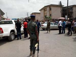 Armed Robbers Caught After Car Accident While Escaping With Money In Owerri (Photos)