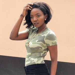 """If Soldier Catch You"" – Fans Tell Simi As She Rocks Army Camouflage (photos)"