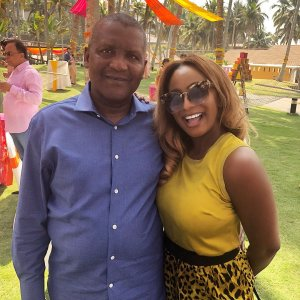 DJ Cuppy pictured with Aliko Dangote in India (Photo)