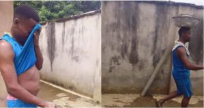 SAD! Unemployed Graduate Who Had Distinction Turns To A Bricklayer (Photos)