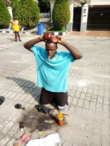 House boy caught with charms in Lagos (Photos)