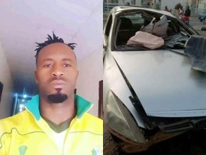 See The Accident Scene That Killed Chinedu Udoji (Photos)