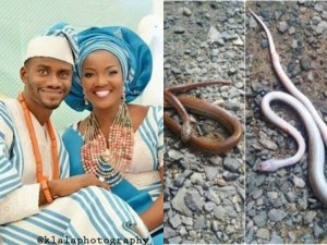 Comedian, Segun Dangote Narrates How His Wife Escaped From Been Bitten By A Big Snake In Their Toilet (Photos)