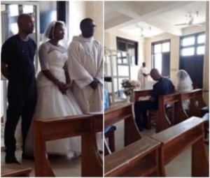 See This Nigerian Man Wearing Native To His White Wedding In Abuja (Photos)